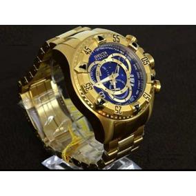 b4daf982eb8 Relógio Invicta Excursion Reserve 6469 Dourado azul. R  509. 12x R  42 sem  juros