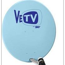 Antena Satelital Azul Vetv Nueva Completa Con Lnb