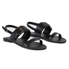 Sandalias De Mujer Forever 21 Color Negro
