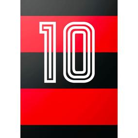 Poster // Ilustração - Flamengo Zico10 - Tela Em Canvas - A2