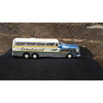 Miniatura De Ônibus Americano Gmc Em Madeira 40 Cm