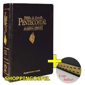 Bíblia Pentecostal Média De Estudo Com Harpa E Índice