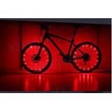 20 Led Bicicleta-moto Luz Rueda De Neon 2 Mts.luz Flash Unid