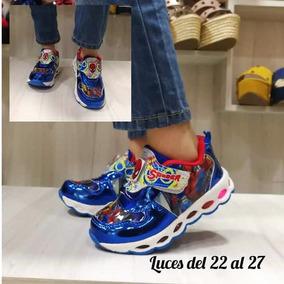 Zapatos Con Luces Deportivo Spiderman Superman Y Batman Niño