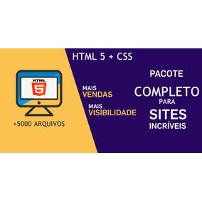 Sites Prontos Em Html 5 E Css - Pacote Completo + Bonus Novo