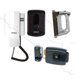 Kit Porteiro Ipr 8010 Intelbras +protetor +fechadura Aglinha