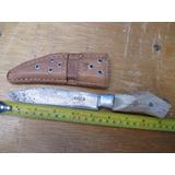 Antiguo Cuchillo Sayula Con Cachas De Venado.con Funda Piel