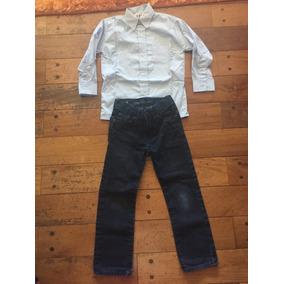 Camisa Niño Celeste Talle 6 Y Vaquero Gap