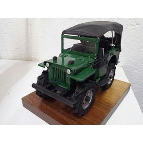 Jeep Willys Miniatura Em Ferro Artesanal