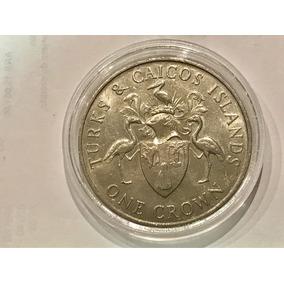 Moneda De Turks And Caicos Island - One Crown - 1986