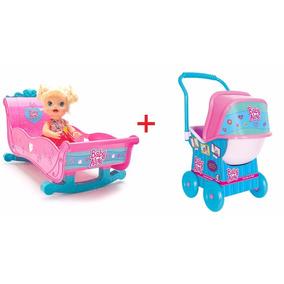 Berço + Carrinho Baby Alive Hasbro Cotiplas Menina Brincar