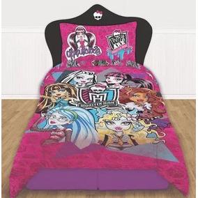 Acolchado Monster Hight + Juego De Sabanas- Monster Hight