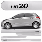 Friso Lateral Hyundai Hb20 2012 A 2016 Prata Metal S-juros