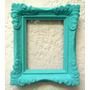 Antiguo Marco Molduras De Yeso Pintado Verde $por C/u
