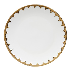Jogo 6 Pratos De Jantar De Porcelana Egg 27 Cm