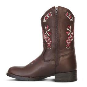 Bota Country Texana Infantil Silverado Couro Floater