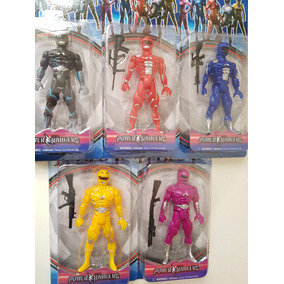 Bonecos Power Rangers Com Acessório E Luz Unitário