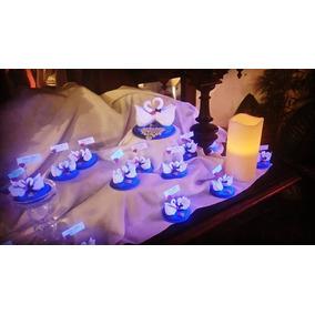 Pareja Cisnes En Porcelana Fría Souvenirs Casamiento