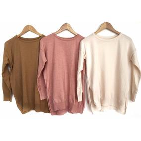 Sweater Largo Mujer Abrigado !