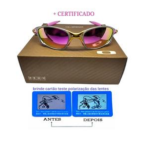 Oculos Oakey Double Xx 24k Rosa + Lentes +teste+certificado