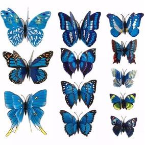 Pegatinas Mariposa Decoración 3d Refrigerador Pared 12piezas