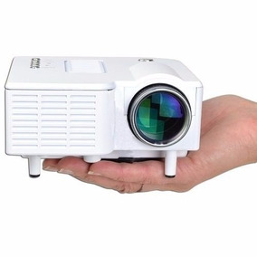 Mini Projetor Portátil Led 60 Pol Branco Filmes/ Imagens