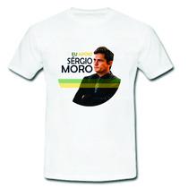 Camiseta Juiz Sergio Moro Lava Jato Contra Corrupção Camisa