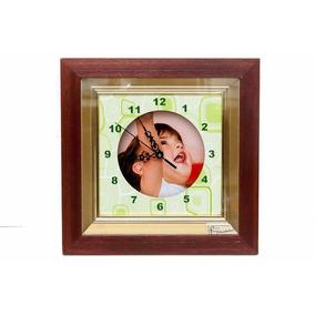 Reloj Personalizado Tipo Cuadro Souvenirs Madera Y Vidrio