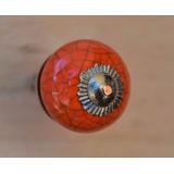 Tirador Perilla Esfera Cerámica Naranja Crocel Ø3cm
