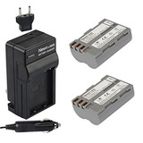 Newmowa En-el3e Battery (2-pack) And Charger Kit For Nikon E
