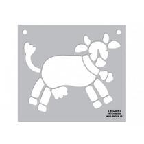 Gabarito/molde Para Patchwork Trident Mod. Patch 13 - Vaca