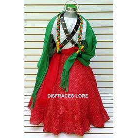 Vestido Disfraz Adelita Niña Falda Blusa Carrilleras Rebozo