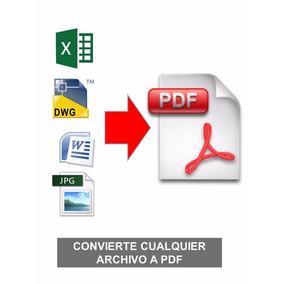 Programa Convierte Cualquier Archivo Dwg Doc Xls Jpg A Pdf