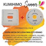Kumihimo Redondo + Telar Cuadrado 14 Cm - Ambos Con Tutorial