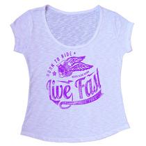 T-shirt Blusa Feminina Em Tecido Flamê Com Elastano - F125