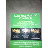 Xbox 360 Membresía Gold De Xbox Live De Un Mes