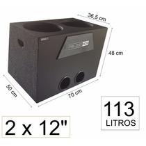 Caixa De Som P/ 2 X 12 Pioneer Dutada Personalizada 113 Litr