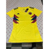 Jersey Playera Colombia Local Mundial 2018 Para Dama