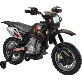 Moto Elétrica Infantil Motocross Preta - Belbrink