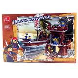 Mini Bloques Para Armar Juguete Barco Piratas Tipo Lego
