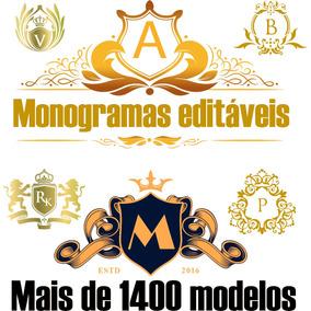 Monogramas Editáveis Corel Draw São Mais De 1400 Modelos