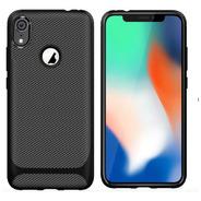 Capa Em Gel Fibra De Carbono Para Apple iPhone XR - Preta