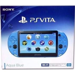 Psvita Ps Vita Sony Wi-fi Aqua Blue Azul Novo Original