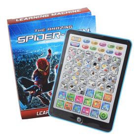 Tablet Infantíl Spiderman Didáctica Interactiva Bilingue Pia