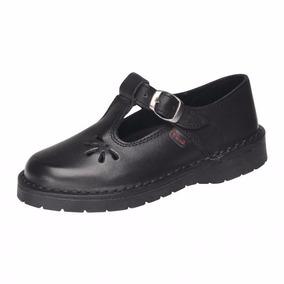 Zapato Colegial Cuero Marcel Guillermina 904 Negro