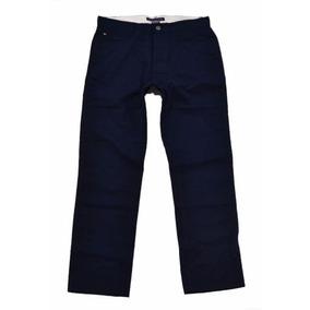 Pantalon Tommy Hilfiger Azul 34x32 (custom Straight)100%orig