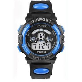 Relojes Honhx Azul Deportivo Mujer O Niño