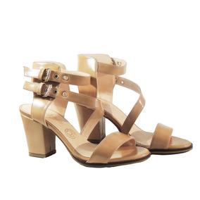 Sandalia Dalia Camel Zapato Mujer Nuevo