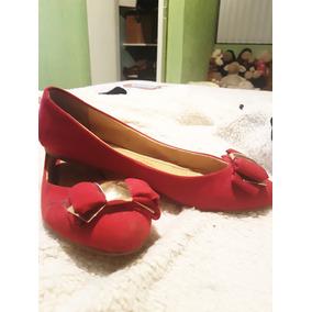 Flats Rojos Moño Dama Oferta