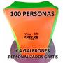 Cotillon Combo X 100 Unidades Fluo Gorros Casamiento 15 Años